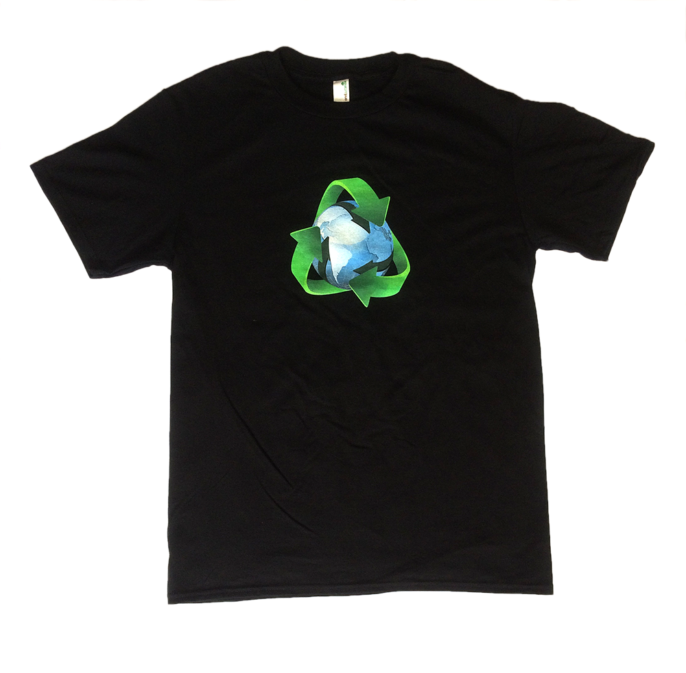 Recycle the world design t shirt made from organic for T shirt design materials