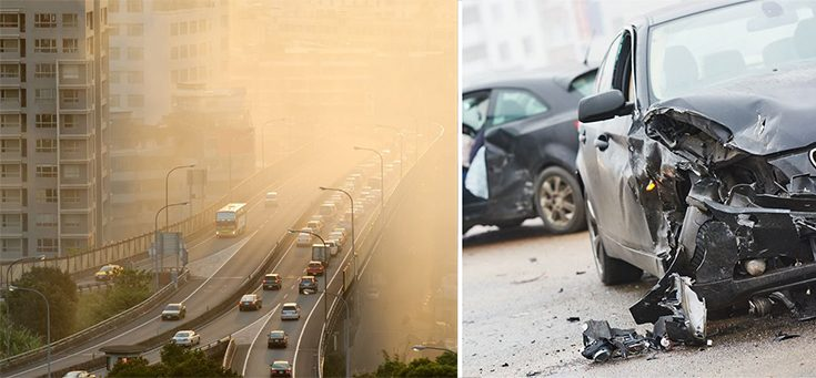 air pollution and car accidents