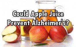 apple juice Alzheimer's