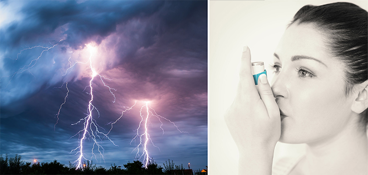 asthma thunderstorm