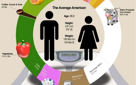 averageamericandiet Average American Diet   Infographic
