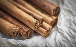 cinnamon sticks.