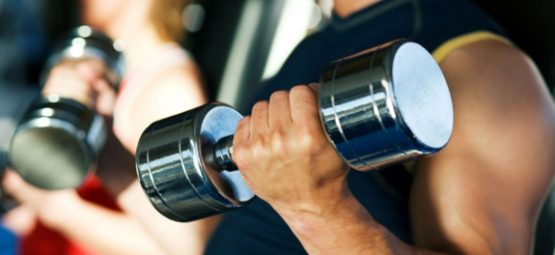 lifting dumbbells