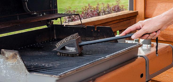 wire bristle grill brush