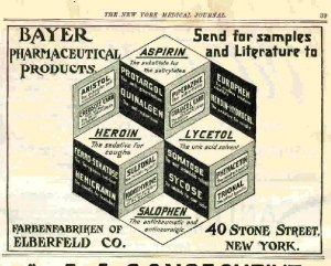 heroinbayerdrug 3 Vintage Scientific Big Pharma Drugs that Contained Ingredients Like Heroin