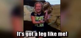Child with Prosthetic Limb Gets Doll Like Her in Viral Video