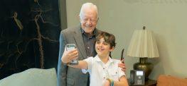 Former President Jimmy Carter Visits 10-Year-Old Cancer Survivor