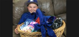 Colorado Boy Knits Hats for Cancer Patients