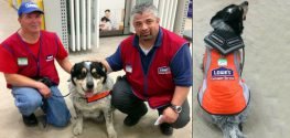 Lowe's Shows off Two New Hires: Man and His Service Dog