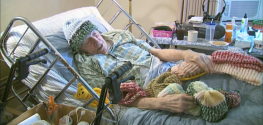 91-year-old Man in Hospice Knits Hats for the Homeless