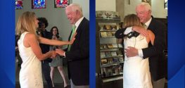 Bride Walks Down the Aisle with the Man who got her Dad's Heart