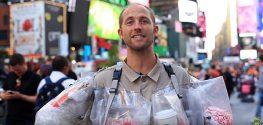 Environmentalist Wears Trash to Open the Public's Eyes