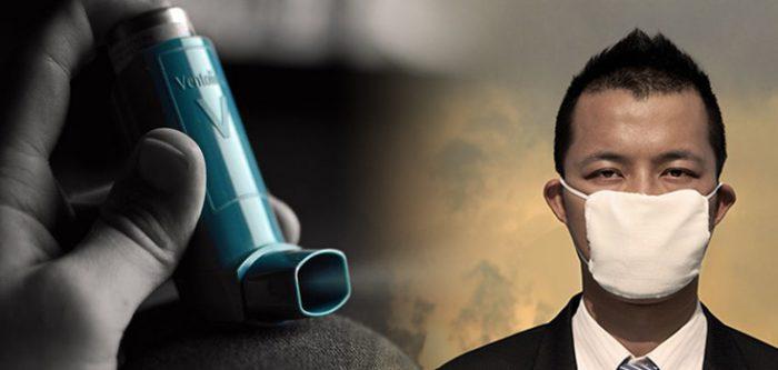 inhaler for air pollution