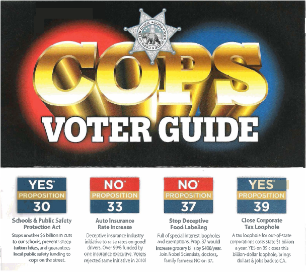 noon37copsguide Anti GMO Labeling Campaign Poses as Cops, Democratic Party to Deceive Voters