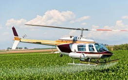 pesticides spray from helicopter