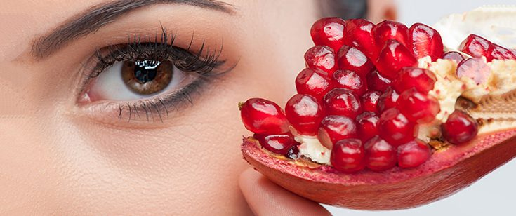 Pomegranate, aging.
