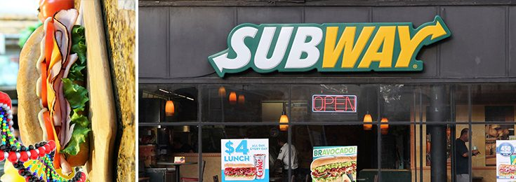 Subway sandwich chicken DNA