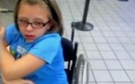 girl held by TSA