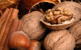 walnuts and cinnamon