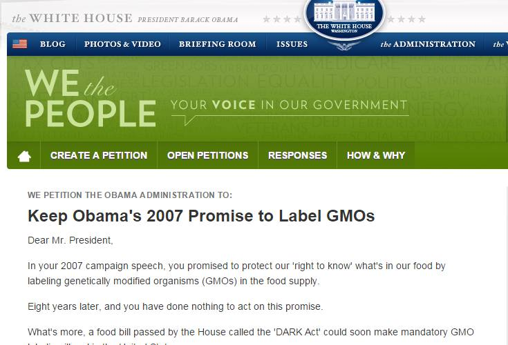 Sign the White House petition asking Obama to keep his 2007 promise!