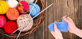 yarn, knitting