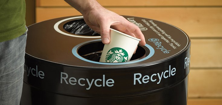 Starbucks Testing Recyclable Cups in the UK to Tackle Waste
