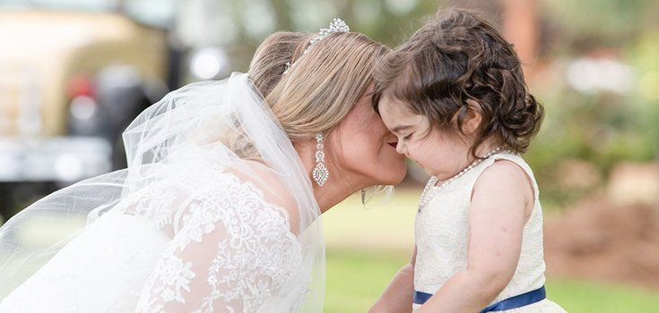 Young Cancer Survivor Serves as Flower Girl for Woman Who Helped Save Her Life