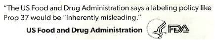 FDA logo and quote