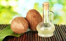decanter of coconut oil