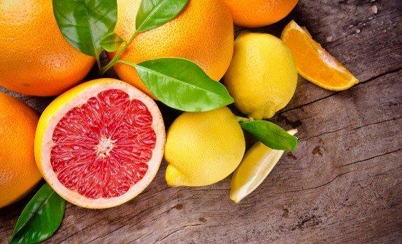 grapefruit and lemons