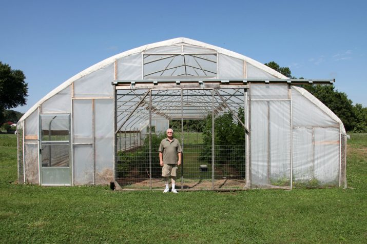 Central Missouri farmer Gary Wenig plants trap crops around his high tunnel in an effort to stop pests from eating his produce. Kristofor Husted/Harvest Public Media