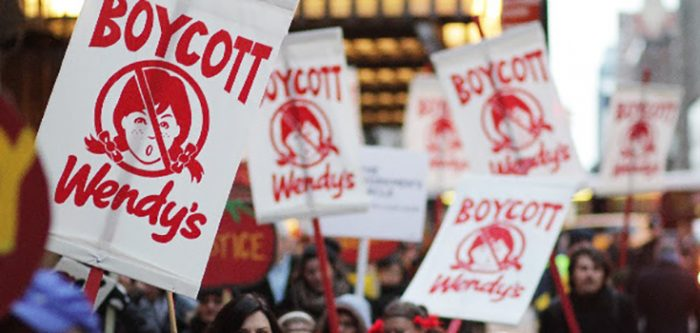 wendy's protest