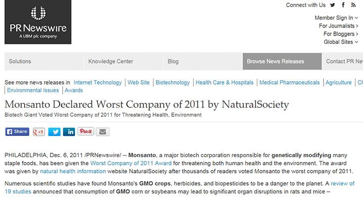 natural-society-worst-company-2011-monsanto