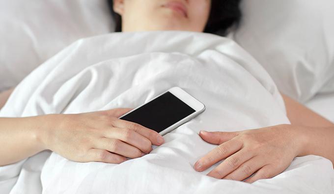 sleeping with phone